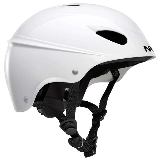 42604.01.102 NRS Havoc Adult Livery Whitewater Kayak Rafting Safety Helmet, One Size, White
