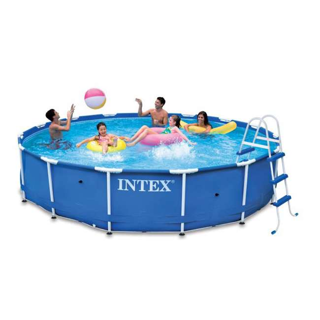 Intex 15 39 x 36 metal frame swimming pool set w 1000 gph pump 28231eh for Intex swimming pools australia