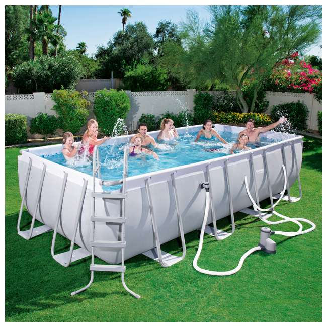 56536E-BW + 2 x 58012E-BW Bestway Above Ground Pool w/Ladder, Pump, and Cartridges (2 Pack) 6