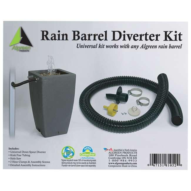 ALG-81052 Algreen 81052 Rain Barrel Deluxe Downspout Diverter Kit 1