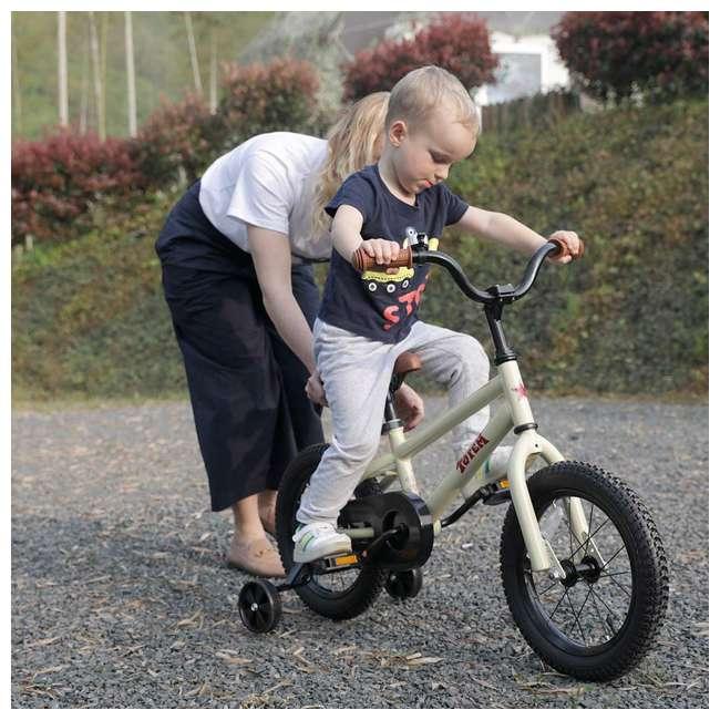 BIKE008-16 JOYSTAR Totem Series 16-Inch Kids Bike with Training Wheels & Kickstand, Ivory 2