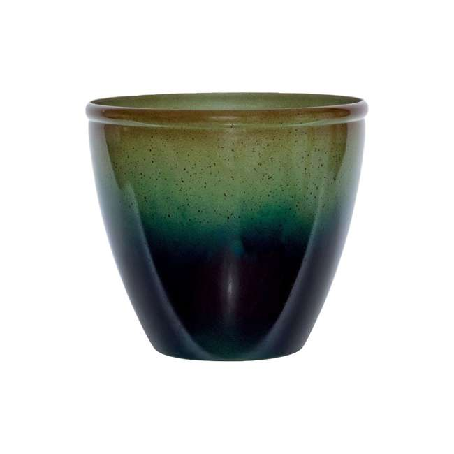 1606GP32 Suncast Seneca 16 Inch Decorative Resin Flower Planter Pot, Green/Blue (2 Pack) 1