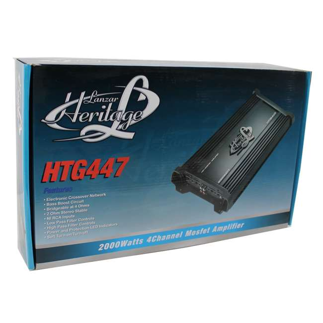 HTG447 Lanzar HTG447 2000W 4 Channel Digital Amplifier (2 Pack) 5