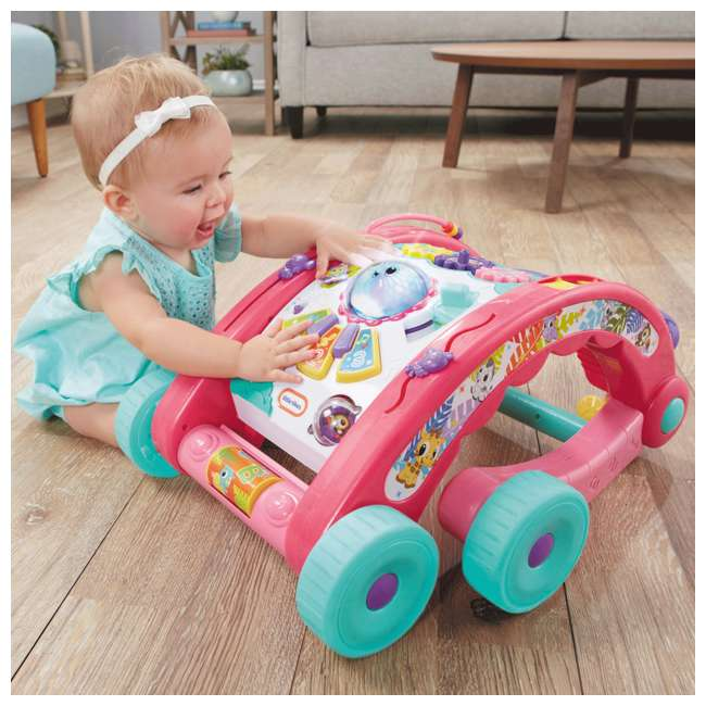 643095-U-A Little Tikes Light 'n Go 3-in-1 Baby Activity Table & Walker Toy, Pink(Open Box) 3