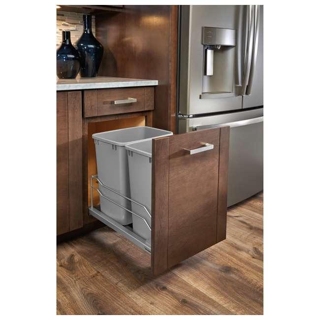 53WC-1835SCDM-217 Rev A Shelf 53WC-1835SCDM-217 Double 35 Quart Undermount Pullout Waste Container 1
