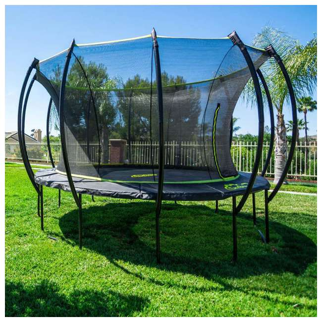 SB-T14STR01-BOX1 + SB-T14STR01-BOX2 + SB-T14STR01- SkyBound Stratos 14 Foot Steel Trampoline + XDP Metal Ground Anchor Kit 6