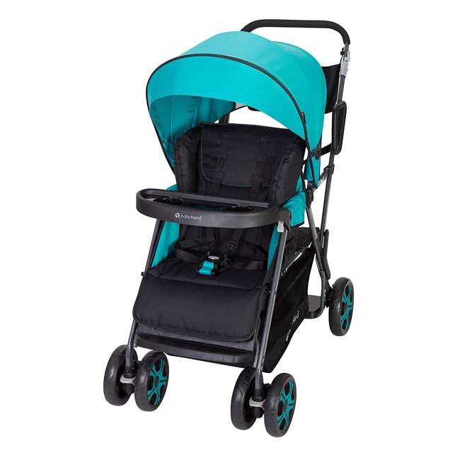 SS80A31A Baby Trend Sit N' Stand Sport Single or Double Baby Toddler Stroller, Meridian