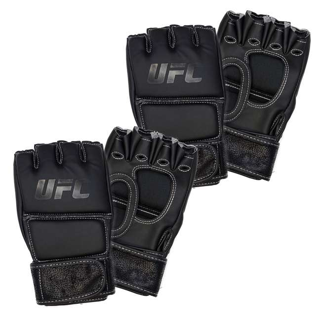 14430P010250-MMASM Century Martial Arts UFC Open Palm S/M Gloves, Black (2 Pairs)