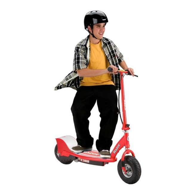 13113697 + 13113614 Razor E300 Electric Motorized Scooters, 1 Red & 1 Gray 3