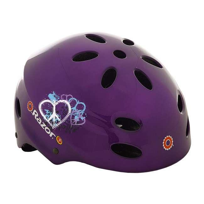 97945 Razor V-17 Child Helmet, Gloss Purple (2 Pack) 1