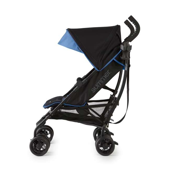 32773 Summer Infant 3DlitePlus Convenience One-Hand Adjustable Stroller Blue/Black 2