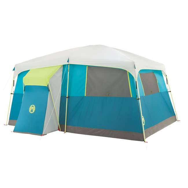 A-2000018088-G + ENGCB2-P1PO Coleman Tenaya Lake 8-Person Cabin Tent & 24 Can Backpack Cooler 2