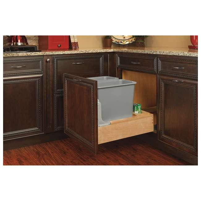 4WCBM-2430DM-2 Rev-A-Shelf 4WCBM-2430DM-2 Double 30 Quart Cabinet Pull Out Waste Containers 2