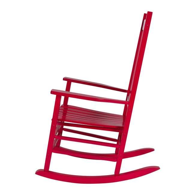 SHN-4332CP Shine Company Vermont Hardwood Outdoor Porch Patio Rocker Chair, Chili Pepper 2