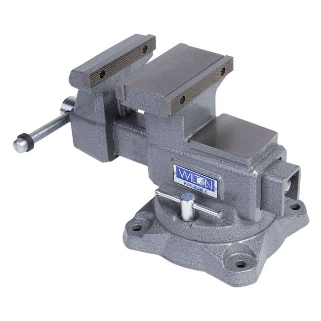 WIL-28821 Wilton 28821 5.5 Inch Jaw Width Anvil Reversible Swivel Base Work Bench Vise 1