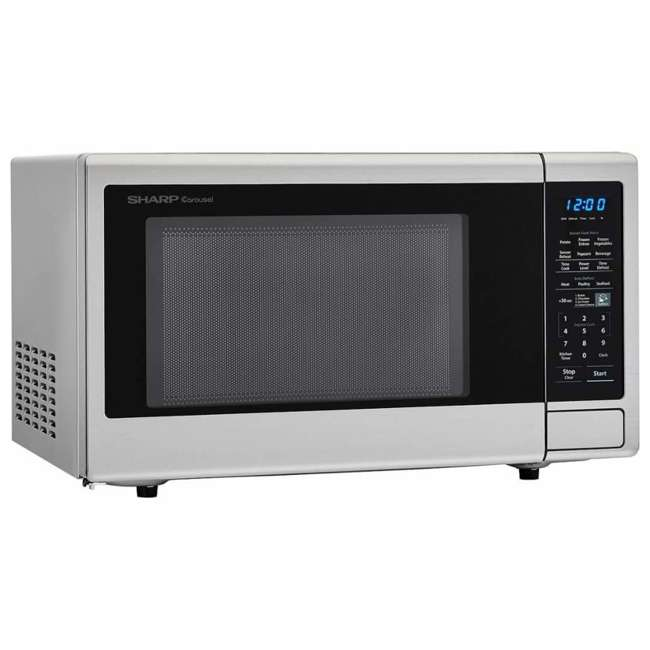 SMC1442CS-RB Sharp Carousel 1.4 Cu Ft Countertop 1000W Microwave Oven (Certified Refurbished)