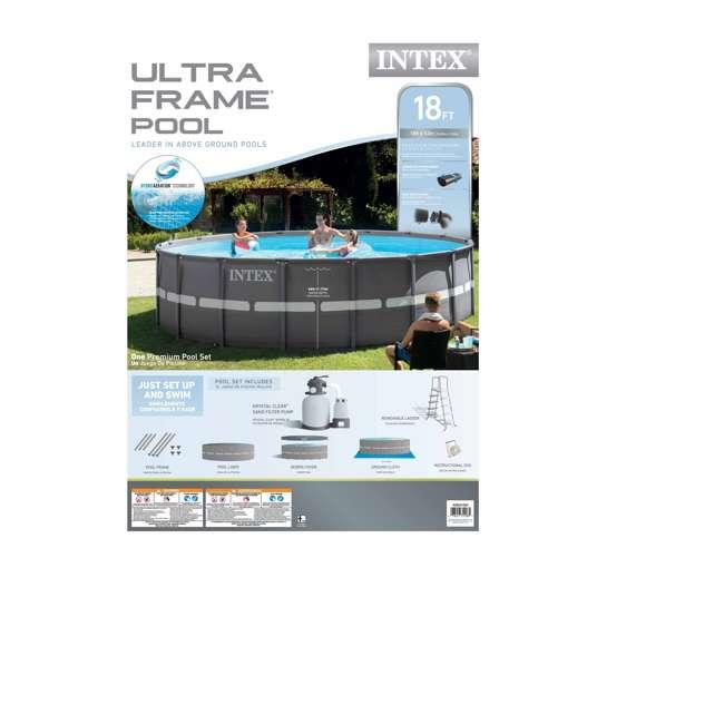 "26331EH + K816CBX Intex 18' x 52"" Ultra Frame Pool Set with 2100 GPH Sand Filter Pump & V-Trap Vac 9"