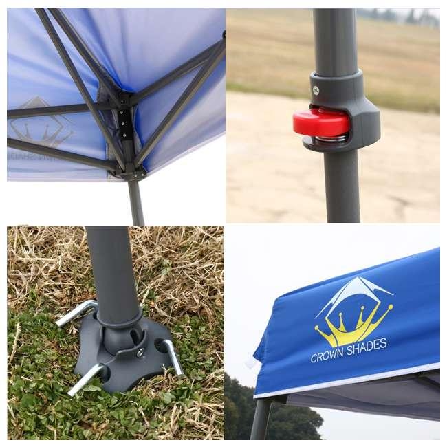 CS-C1109BU Crown Shades 11 x 11 Feet Slant Leg Rust Resistant Sun Protected Canopy, Blue 2