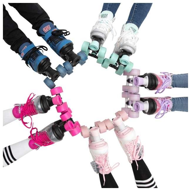 168222 Circle Society Bling Sizzling Pink Kids Skates, Sizes 3 to 7 8