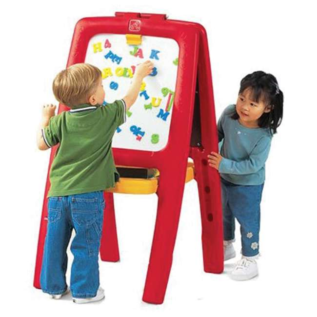 885200 Step2 Magnetic White Board and Chalkboard Art Painting Easel
