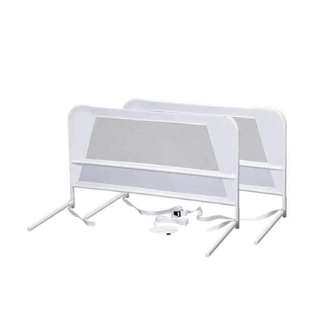 BR303 KidCo Telescopic 2-Pack Children's Bed Rail, White (2 Sets) 1