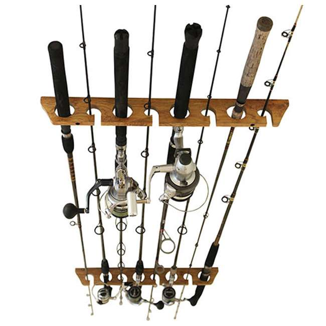 38-3020 Rush Creek Creations Barn Wood 2 Piece 11 Rod Wall & Ceiling Rack, Wood Grain 2
