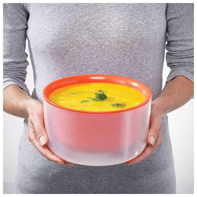 45010-JJ Joseph Joseph M Cuisine Cool Touch 3 Piece Microwave Cookware Bowl Set, Orange  3