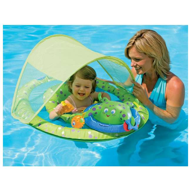 11601 SwimWays Baby Spring Float Activity Center with Sun Canopy | 11601 (2 Pack) 2