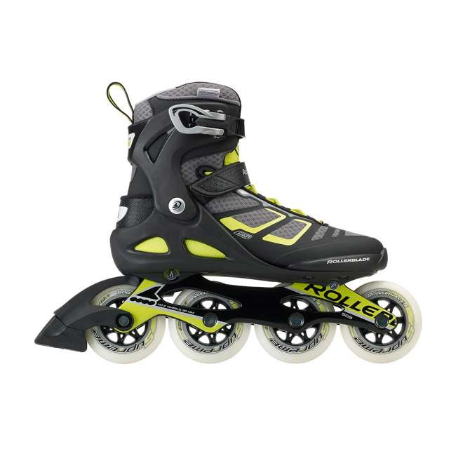 077340001A1-9 Rollerblade USA Macroblade 90 Men's Adult Fitness Inline Skates Size 9, Lime 3