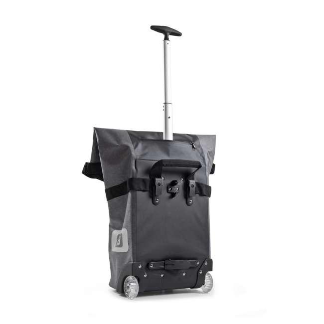 96400/white B&W International B3 Luggage Bicycle Bag w/ Wheels and Telescoping Handle, White 3