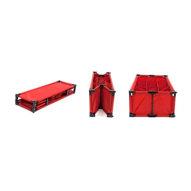 4 x RSF-TP-RB Origami 9-Cube Storage Organizer Shelf, Red (8 Pack) 3