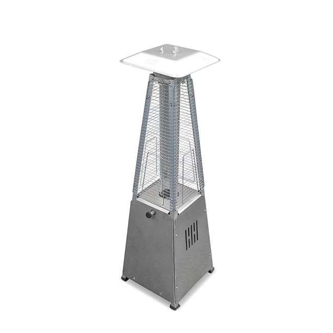 HLDS032-GTTSS AZ Patio Heaters Tabletop Quartz Glass Tube Propane Heater, Stainless
