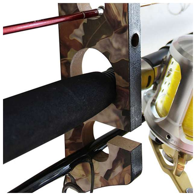 38-3024 Rush Creek Creations 38-3024 Camo 2 Piece 11 Pole Wall and Ceiling Rod Rack 2