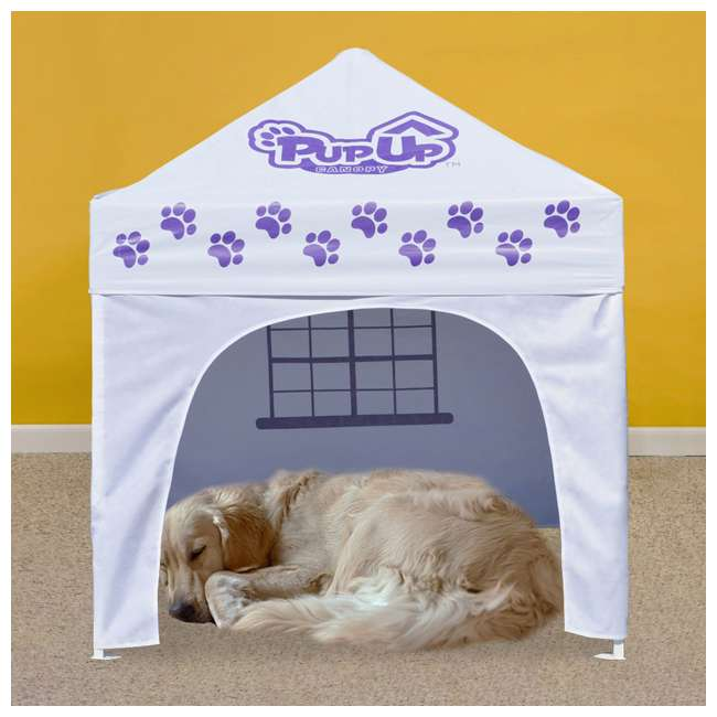 CVANPUP02010-U-A PupUp Portable Dog House Small Indoor Outdoor Canopy Shelter (Open Box) 6