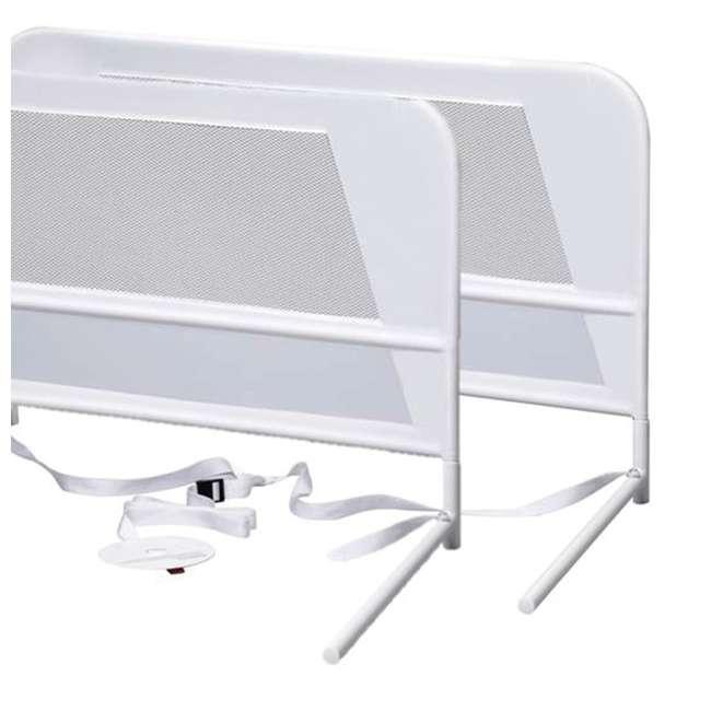BR303 KidCo Telescopic 2-Pack Children's Bed Rail, White (2 Sets) 2