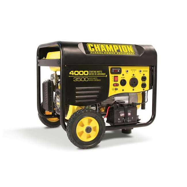 CPE-GN-46565 Champion 46565 Portable Wheeled Electric Start Gas Powered 3500 Watt Generator