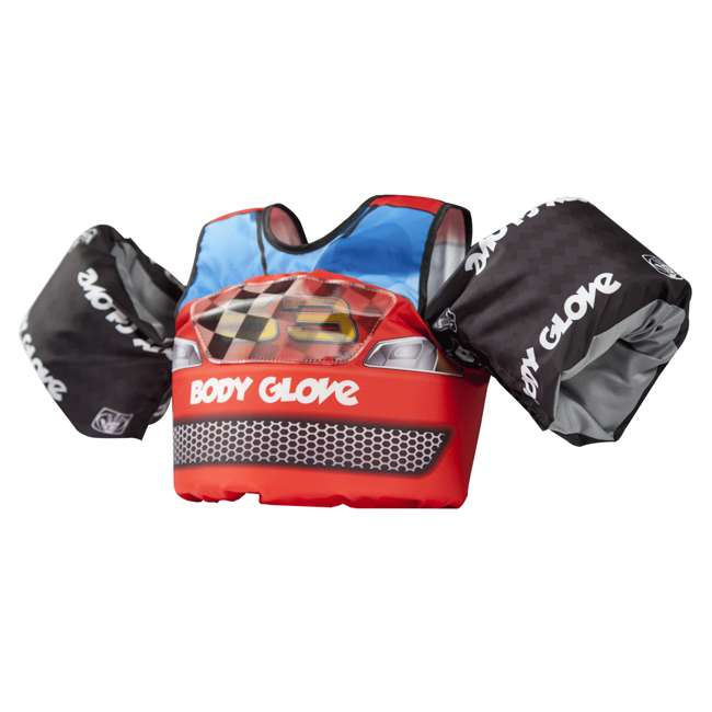 13226H-Car Body Glove Paddle Pals Childs Racecar Swim Training Life Jacket & Arm Floaters
