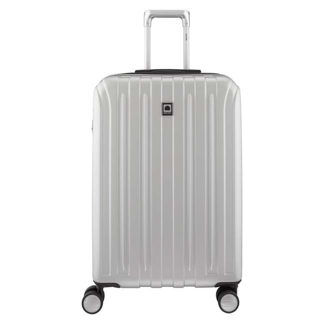 "00207182011 DELSEY Paris Titanium 25"" Expandable Checked Spinner Rolling Luggage Suitcase"