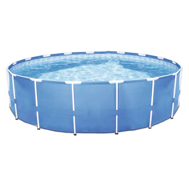 56417E-BW + 28031E Bestway Steel Pro 12-Foot x 30-Inch Frame Pool with Filter & Cover 3
