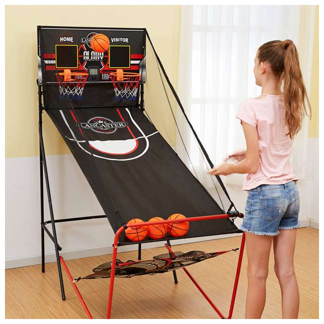 BBG019_018P-U-A Lancaster 2 Player Scoreboard Arcade 3 in 1 Basketball Sports Game (Open Box) 5