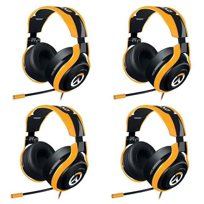 4 x RZ04-01920100-R3M1 Razer ManO'War Overwatch Tournament Edition Over Ear Headset with Mic (4 Pack)