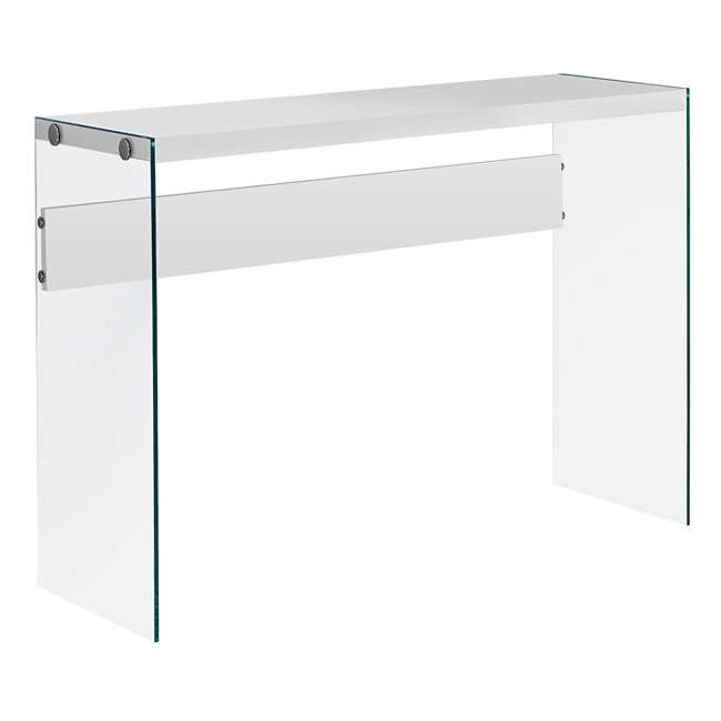 VM-3288-U-A Monarch Specialties Console Table w/ Tempered Glass, White (Open Box) (2 Pack) 4