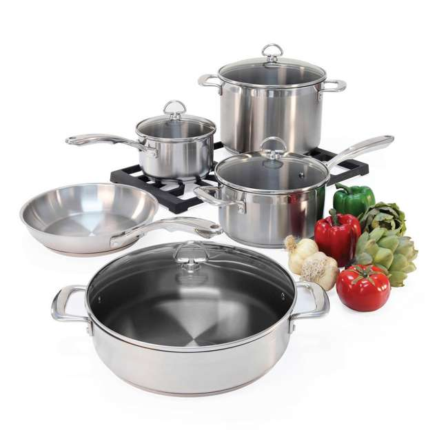 SLIN-9 Chantal Induction 21 Steel Cookware Set, 9-Piece (2 Pack) 4