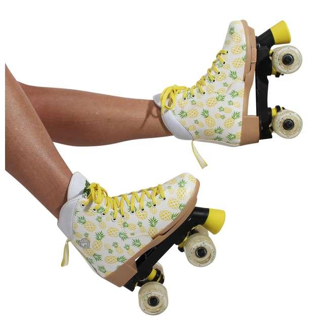 168219 Circle Society Craze Crushed Pineapple Kids Skates, Sizes 3 to 7 8