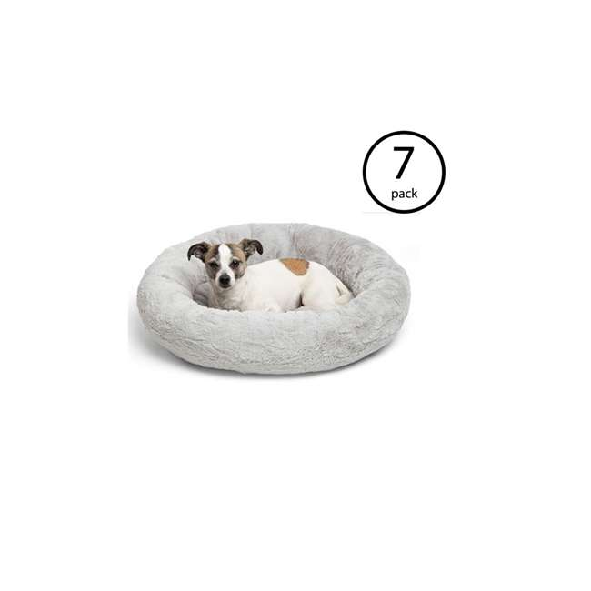7 x DNT-LUX-GRY-2323 Best Friends by Sheri Orthopedic Donut Dog Bed (7 Pack)