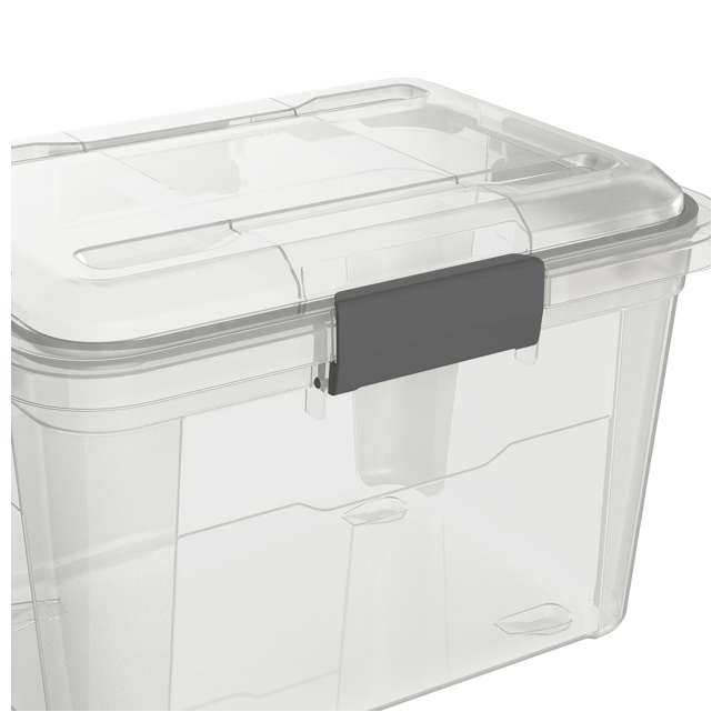 6 x FBA32225 Ezy Storage Weather Proof IP65 18 Liter Plastic Storage Container w/Lid (6 Pack) 3