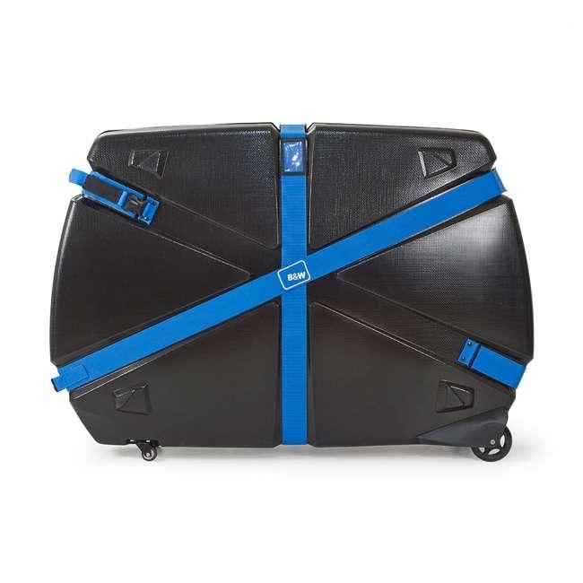 96015 B&W International Hard Impact Resistant Weatherproof Bike Guard Curv Case, Blue 1