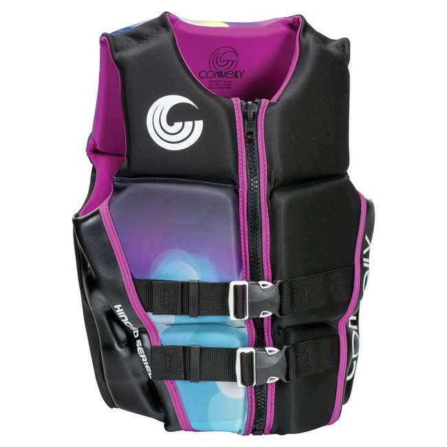 67192407-CON CWB Connelly Womens Classic Neo Vest Water Gear Life Jacket, Purple, Extra Small