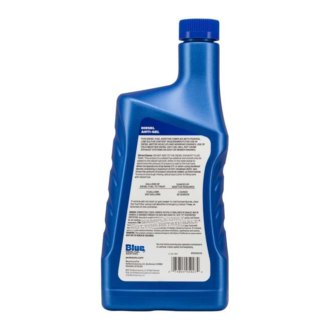 DEF002 BlueDEF Diesel Urea & Deionized Water 2.5 Gal JugPEAK Anti-Gel Diesel Additive 5