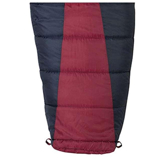 51723211RR Slumberjack Latitude Regular Zero Degree Sleeping Bag, Red (2 Pack) 2